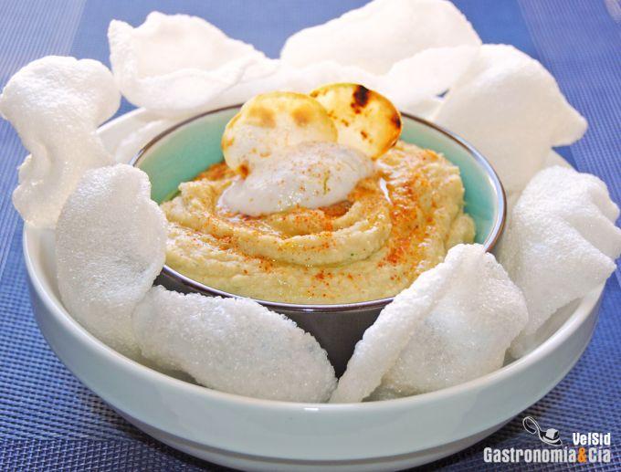 Hummus con leche de coco y shichimi togarashi