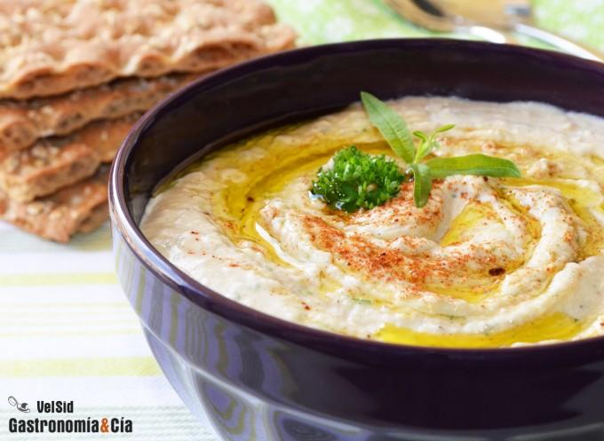 Hummus de judías blancas con hierbaluisa