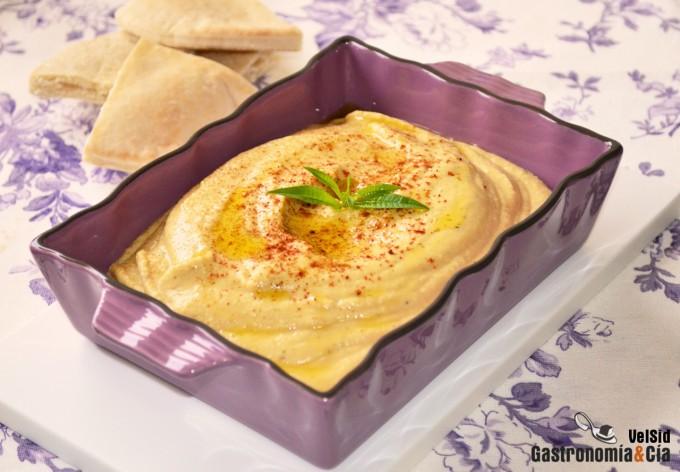Hummus con manzana y jengibre