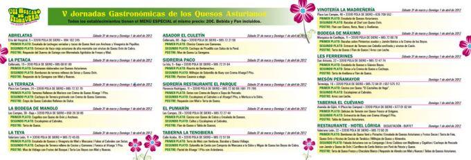 Jornadas Gastronómicas Los Quesos Asturianos en Pola de