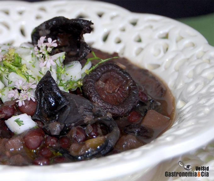 receta de jud as negras con setas