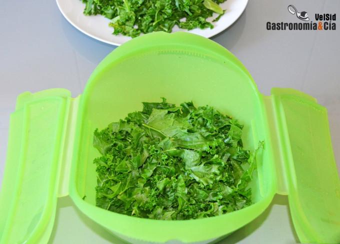 Cómo preparar kale en un minuto