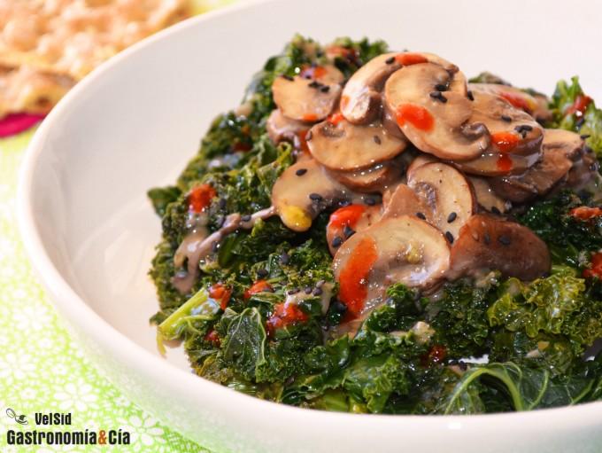 Kale, portobello y coco