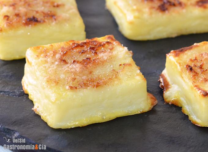 Leche frita más ligera, sin freír y reduciendo el azúca