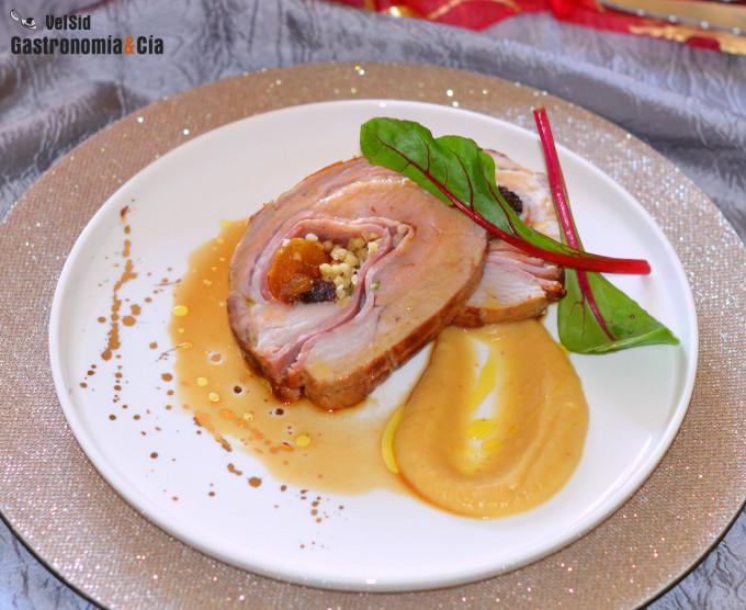 Lomo de cerdo relleno al romero