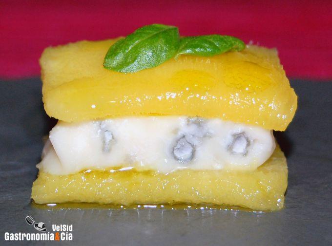 Mango con gorgonzola