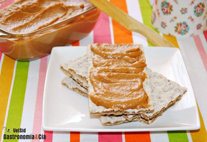 Mantequilla de manzana y cacahuete