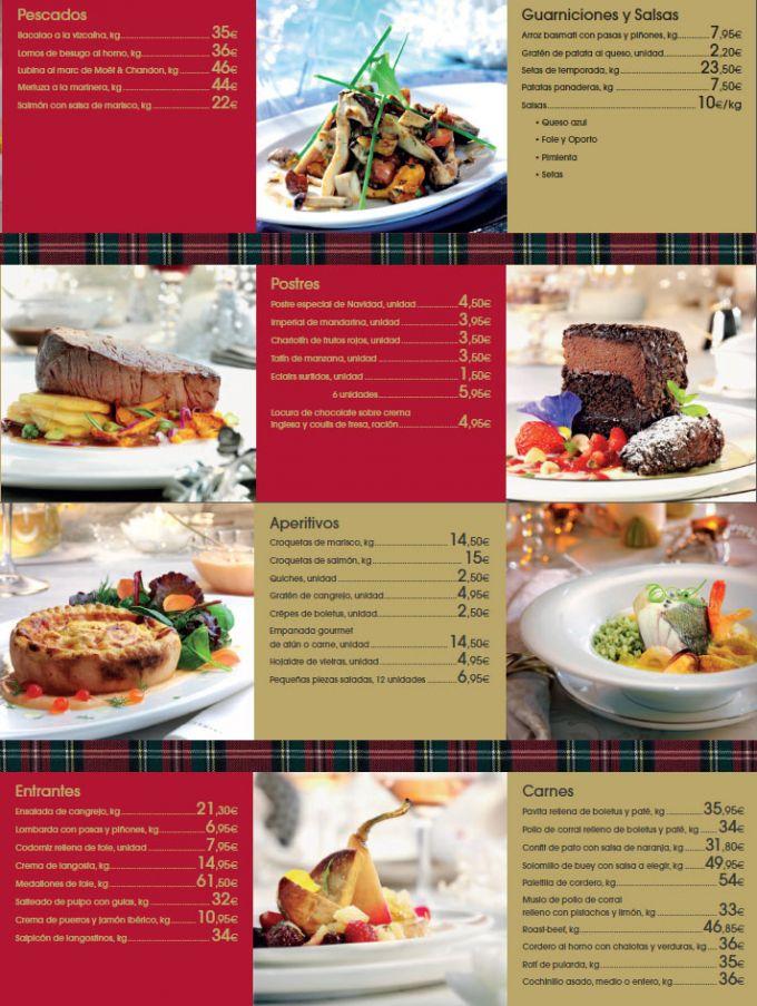 Menús de Navidad de El Corte Inglés 2011