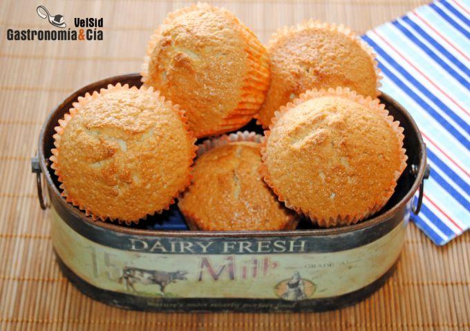 Muffins de almendra y coco