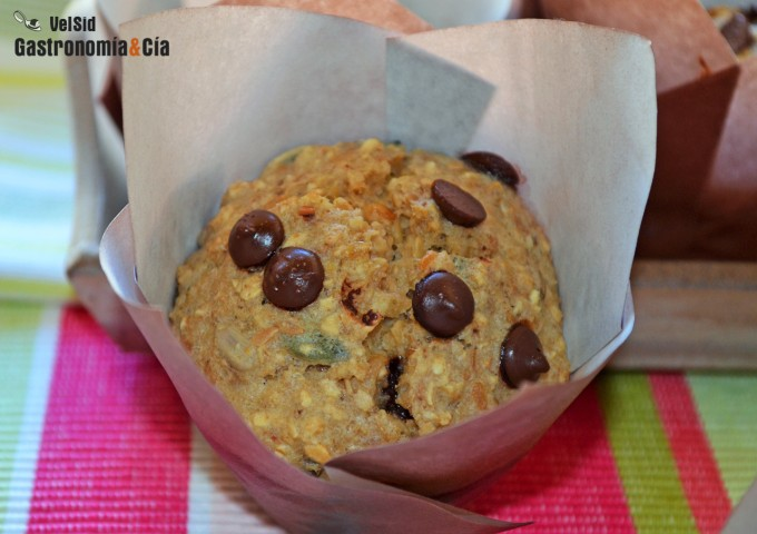 Receta de Muffins de avena y plátano