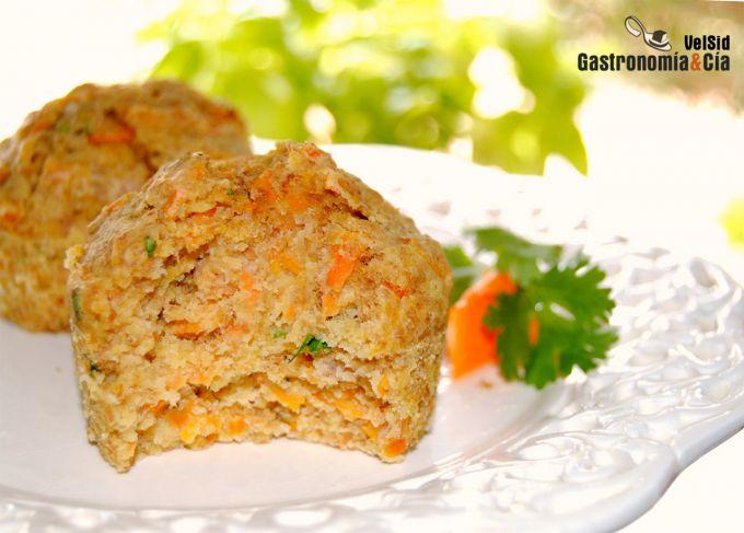 Muffins de zanahoria y cilantro