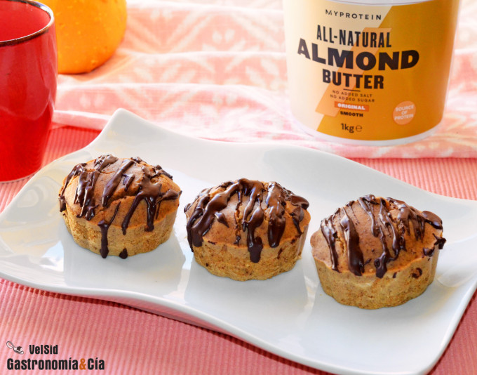 Muffins de almendra y chocolate