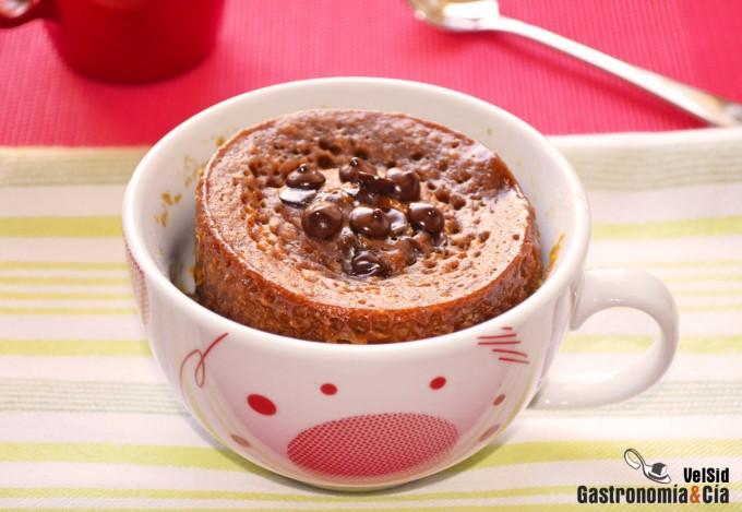 Mug Cake de almendra y toffee