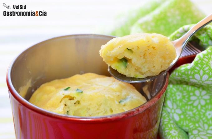 Mug cake de calabac n y queso gastronom a c a - Hacer pasta en el microondas ...