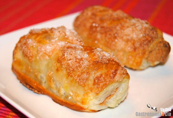 Mini napolitanas de crema de cacahuete