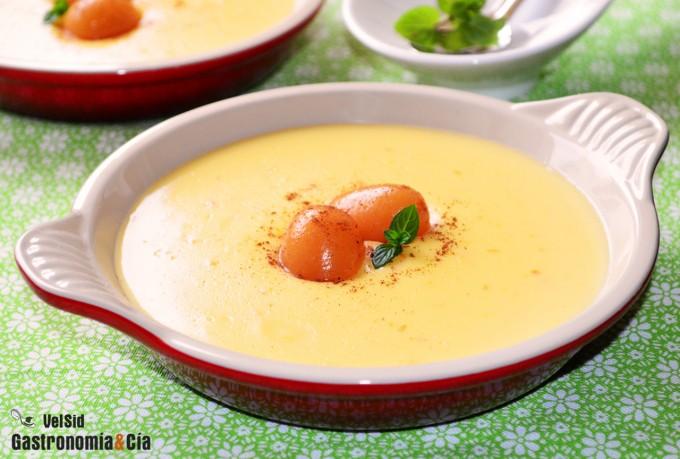Natillas de mandarina y jengibre