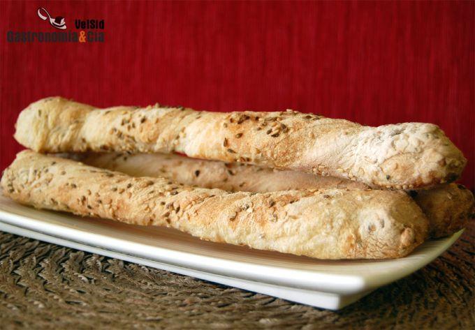 Palitos de pan con sésamo y anís