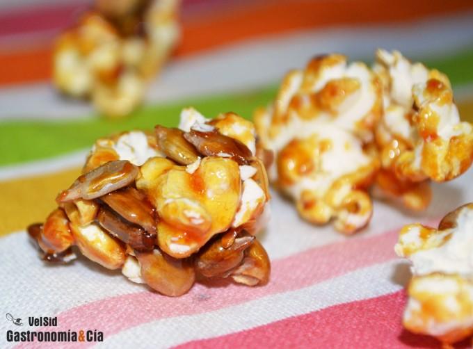 Palomitas de maíz dulces con pipas
