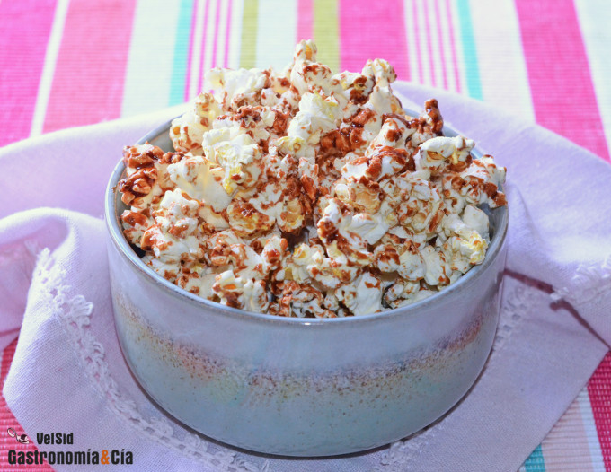 Palomitas de maíz dulces saludables