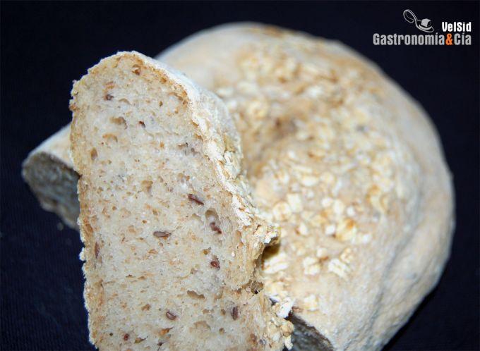 Pan de avena y linaza
