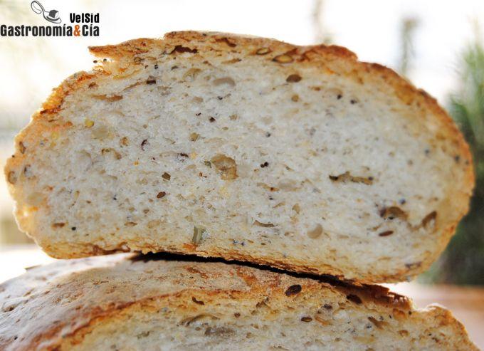 pan blanco con semillas