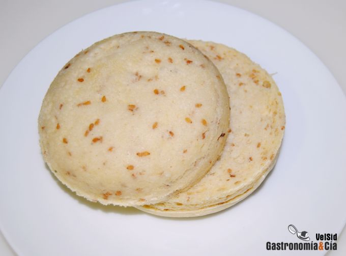 Pan de hamburguesa en microondas