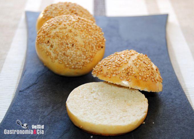 Pan para mini hamburguesas