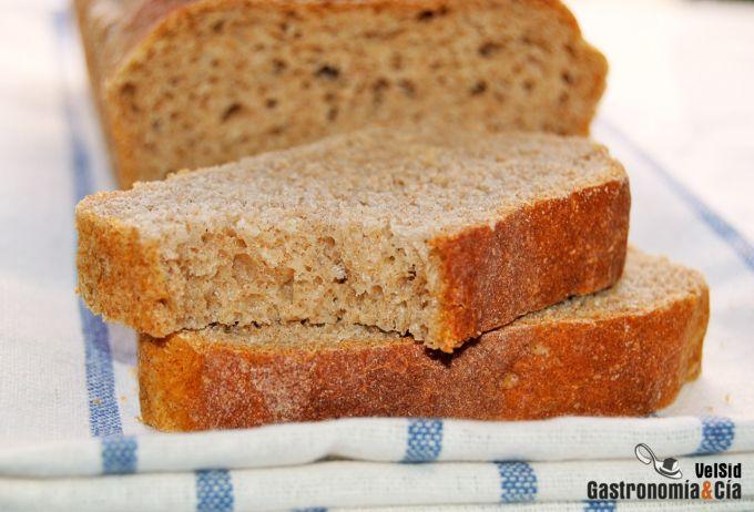 Pan de molde integral de centeno