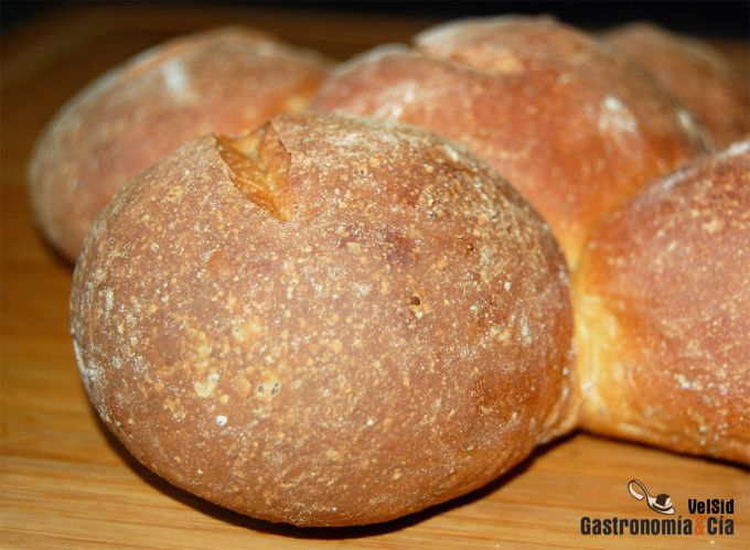 Pan con harina preparada enriquecido