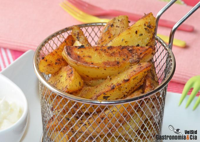 Cómo hacer patatas gajo saludables en diez minutos