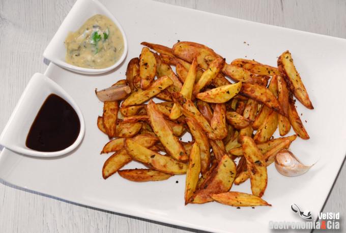 Patatas gajo con especias en freidora de aire