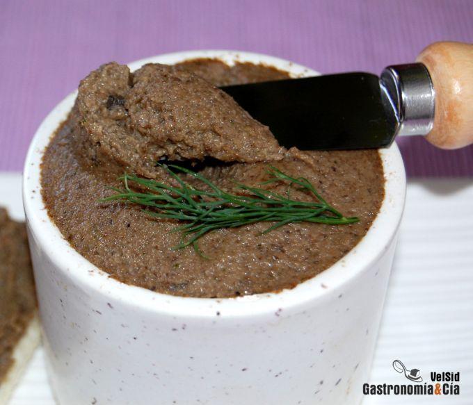 Paté de champiñones al Oporto