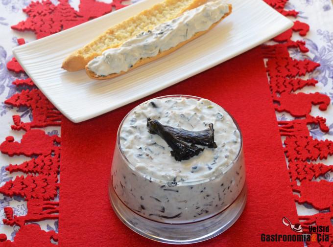 Receta de crema de queso con setas y trufa