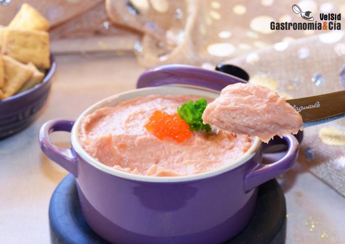 Crema de salmón casero