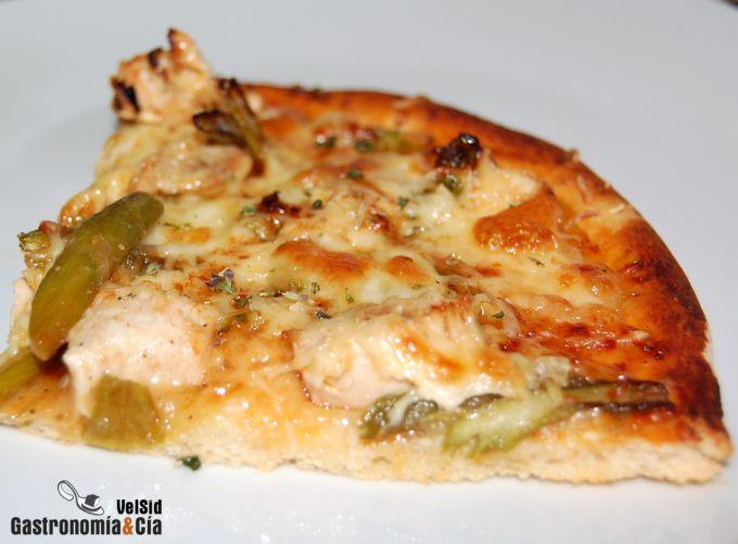 Pizza de pollo al Pedro Ximénez