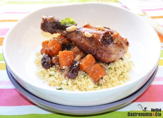 Pollo con calabaza y especias tandoori