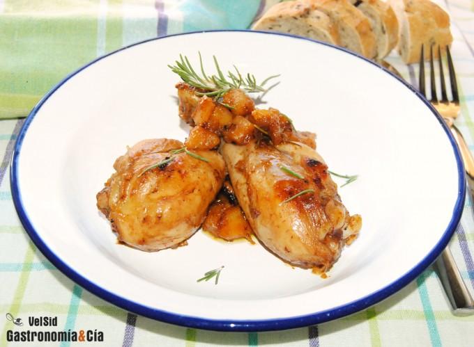 Receta de muslos de pollo con tandoori masala y chiriví