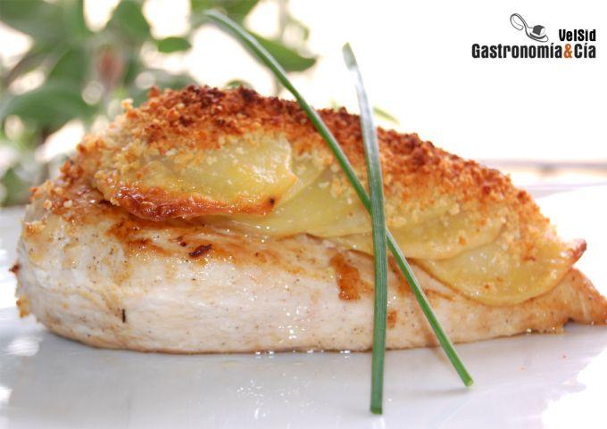 Pollo con patatas crujientes gastronom a c a - Pechugas de pollo al horno con patatas ...