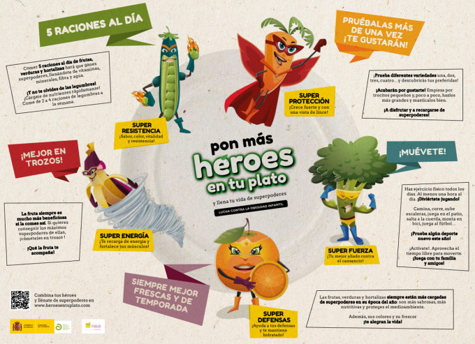 Campaña para promover una alimentación saludable
