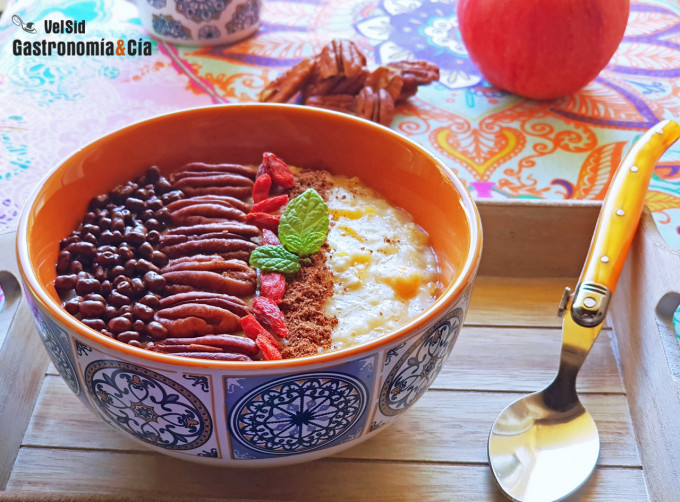 Porridge de calabaza y nueces