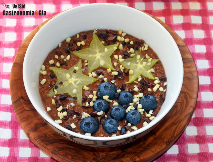 Porridge de chocolate y jengibre