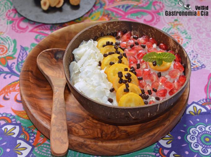 Porridge Con Kumquats Granada Y Coco Receta Para Un Desayuno