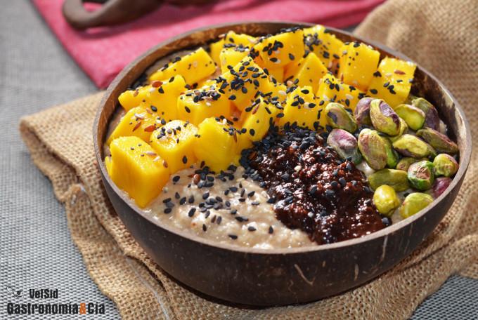 Porridge De Platano Mango Y Pistachos Nueva Receta Con Avena Y