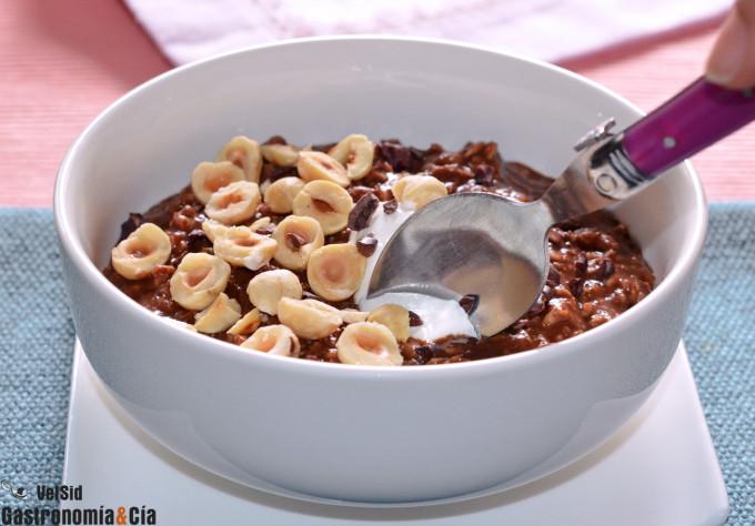Porridge de moka y avellanas