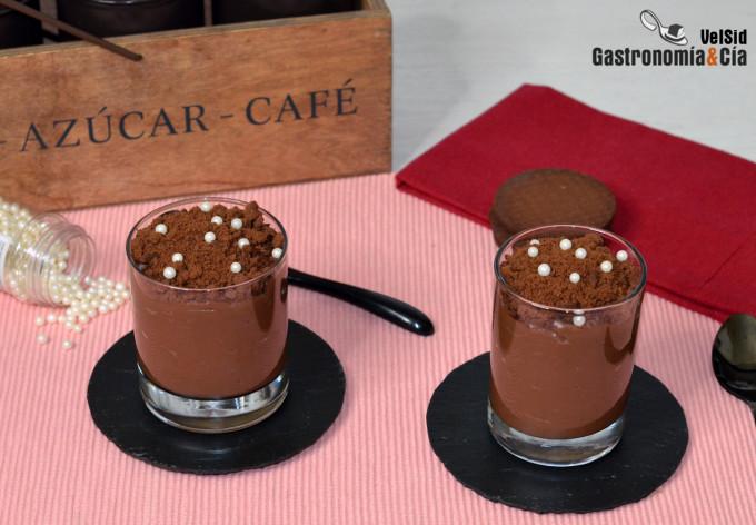 Pudin de chocolate, café y whisky