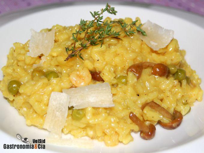 Risotto de curry verde