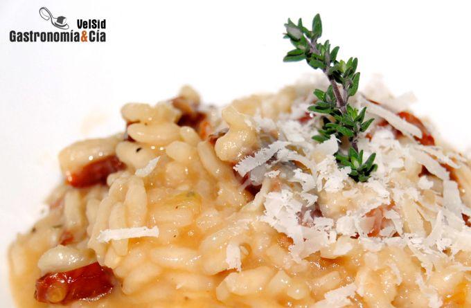 Risotto de mozzarella y tomate seco