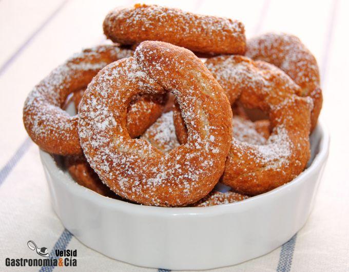 Rosquillas integrales de almendra y anís