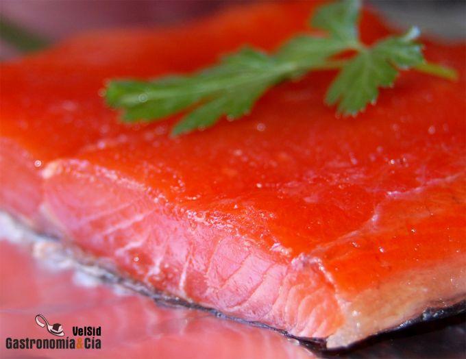 Salmón marinado básico