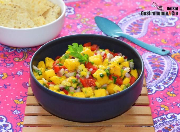 Salsa de mango mexicana